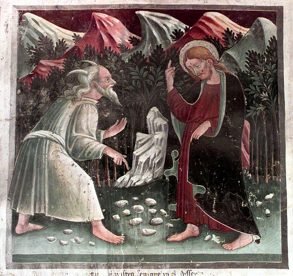 Jesus tempted by Satan dans images sacrée 1Qcancelletto1444a